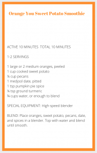 Orange Smoothie Recipe Card